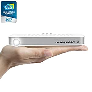 "2017 NEW CES Awarded C200 Focus Free FDA Approved Class1 Eye Safe Laser, 200 Lumens, 4K input 768P HD output, Up to 150"" Screen, Wi-Fi, Bluetooth, USB, SDslot, HDMI, Android OS equipped Projector"