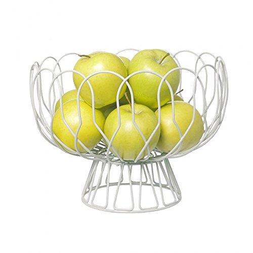 Pt, PT2519WH Corbeille à fruits sur pied Wired Blanche Métal