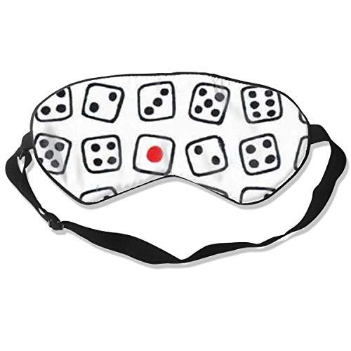 Dice Sleeping Mask Printed Geometric Adjustable Sleep Silkworm Eye Mask - Home Health Care-queen