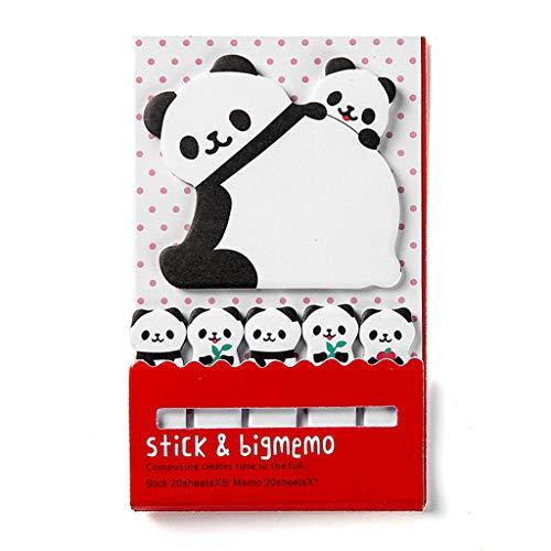 Fafalloagrron 1PC cute Animal Sticky notes memo Pad materiale scolastico planner adesivi cancelleria 4.84inx2.87in 3