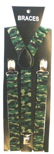 Funky alla moda unisex Reggicalze-Bretelle a pois, cuori, con stampa animalier, note musicali, Tartan, Teschi, UK Army Greens Etichettalia unica