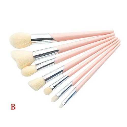 Beauty-Tools,Momoxi 7 Pcs Bevel Mouth Tube Plastic Handle Powder eye brush makeup brush set...