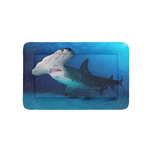 Plosds Heftige Awful Shark Extra Große Individuell Bedruckte Bettwäsche Weiche Hundebett Couch Für Welpen Und Katzen Möbel Matte Cave Pad Kissenbezug Innen 36x23 Zoll