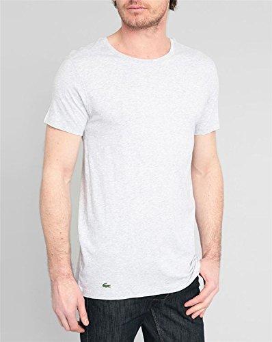 Lacoste Underwear Herren T-Shirt Lacoste C/N TEE, 3er Pack, Gr. Large, Grau (grau-mel. 202)
