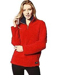 Damen Pulli Herbst Winter Sweatshirt Weiches Flauschig Casual Sport Shirt  Langarm Revers Cute Chic Plüsch Pullover ea1e75e027