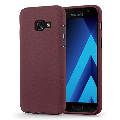 Cadorabo Hülle für Samsung Galaxy A5 2017 (7) - Hülle in Frost BORDAUX LILA – Handyhülle aus TPU Silikon im matten Frosted Design - Silikonhülle Schutzhülle Ultra Slim Soft Back Cover Case Bumper