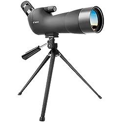 Enkeeo - 20-60x60AE Telescopio Monocular Spotting Scope Anguloso con Trípode (Lente Multi-Revestido, BAK-4 Prisma, Zoom Óptico 41-21m/1000m para Observación Al Aire Libre)
