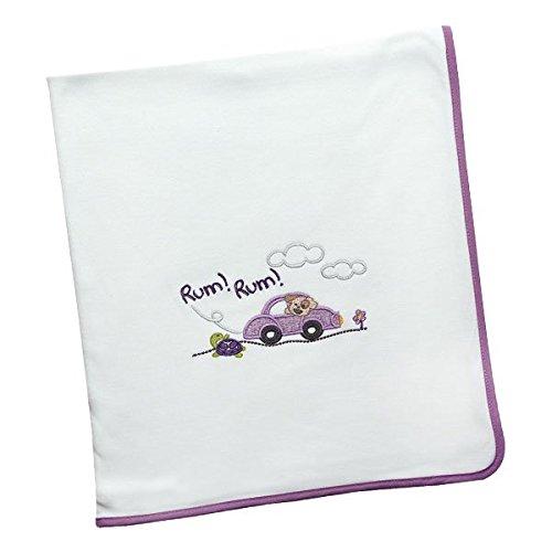 Arrullo para bebé punto de algodón (80x80 cm) RUM RUM Lila