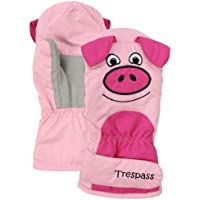 Trespass Porkie - Guantes de esquí (rosa), color rojo, talla UK: Age 5-7