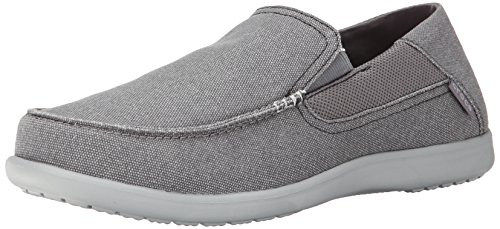 crocs Santa Cruz 2 Luxe Men, Herren Slip-On, Grau (Charcoal/Light Grey), 43-44 EU Crocs Slip On Schuhe