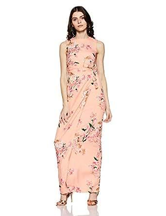 Harpa Women's Wrap Dress (GR3185-PINK_S)