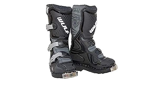 Blanco Wulfsport LA Kids Motocross Cub Ni/ños MX motocicleta Off Road Trials ATV BMX Quad Pit Bike Junior Enduro Race Boots 33