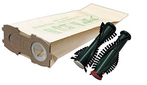 20 Staubsaugerbeutel Kobold 118 119 120 121 122 + Ersatzbürsten ET 340 / EB 350 / 351 (F) mit EXTRA STARKEM FLANSCH geeignet für Ihren Vorwerk