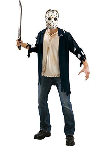Original Lizenz Jason Voorhes Kostüm Freitag der 13 Crystal Lake Kettensäge Massaker Chainsaw massacre Gr. STD, XL, Größe:XL (Kettensägen Massaker Kostüm)