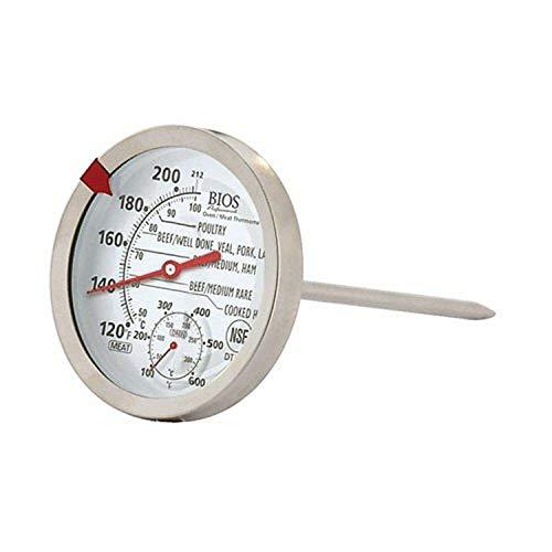 Bios profesional carne termómetro de horno, color blanco