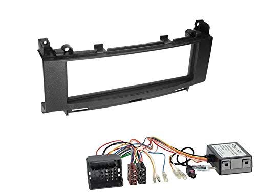 1 Din Radio Einbauset Blende Radioanschlusskabel Antennenadapter für Mercedes B Klasse W245 mit Audio 10 Canbus