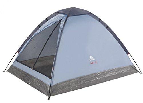 Dreams4Home Zelt 'Yos' - 2 Personen Zelt, Campingzelt, Schlafzelt, Igluzelt, Kuppelzelt, Fiberglasgestänge, Camping, Maße Innenzelt: 150 x 205 x 105 cm, in grau / blau
