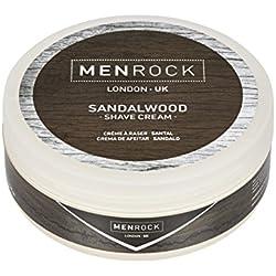 Hombres Rock - Crema de afeitar - Sándalo - 100ml