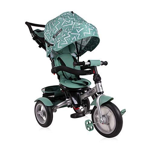 Lorelli Tricycle Neo 4 in 1 Luftreifen, Schiebestange, Sitz drehbar, verstellbar, Farbe:grün