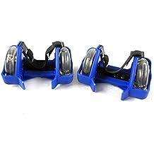 2 Unds de patines ajustables para zapatillas con luz LED color rosa 8hRDE