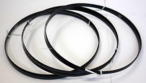 3 x Standard Sägeband Bandsägeband Bandsägeblatt Sägebänder 2100 mm x 10 mm x 0,65 mm x 6 Zähne pro Zoll , für Holz , Hartholz , Brennholz , Sperrholz , Quer- und Schweifschnitte , für Maschinen wie : Scheppach HBS 32 Vario u.v.m. -
