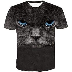 Unisexe Enfant Grande Tête De Bébé T Shirt-Manche Courte 3D Singe Impression Serré Hommes, Plus Taille Élastique Obésité Hauts Réservoir O-Neck Chemisier Respirant Sports Sweatshirt
