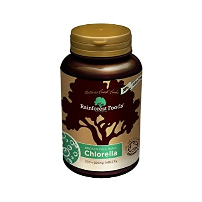 Chlorella Tablets (300 x 500mg) - x 2 *Twin DEAL Pack* by RAINFOREST FOODS
