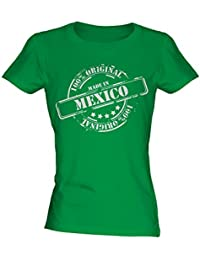 Made In Mexico - Ladies Fitted T-Shirt T Shirt Tee Top