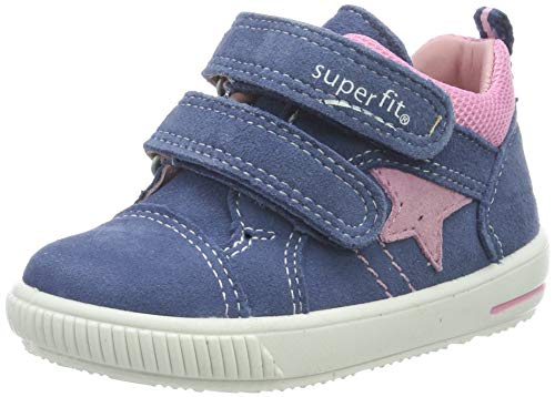 Superfit Baby Mädchen Moppy Sneaker, Blau/Rosa 81, 24 EU -