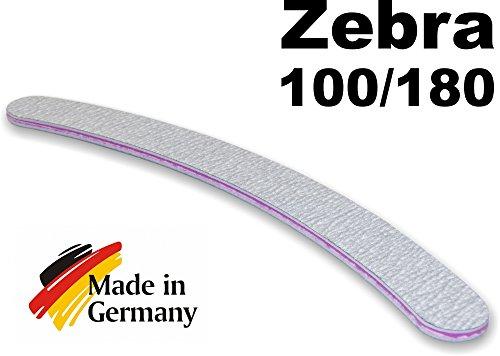 Ansicht vergrößern: 10 Stück Profi Zebrafeile gebogen 100/180 - Bananenfeile Nagelfeile Profifeile zebra