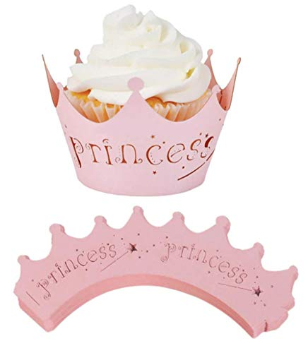 oration Muffin Wrappers Toppers - 10 Stück - Princess - Rosa ()