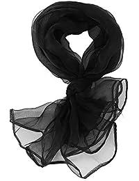 e4dfa6386aebf TOOGOO Belle Mode Plaine Carrée Foulard de Cou En Mousseline de Soie Tête  Foulards 70 cm