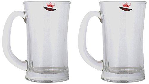 AEVLON Beer Mug, 400 ml, 2-Piece, Transparent,YJZB-5817 AM 607