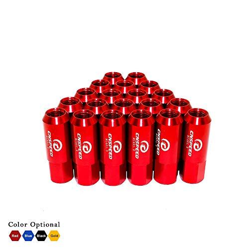 LIDAUTO Radmuttern Rad Muttern Car Racing Zubehör Leicht Aluminiumlegierung M14X1,5 60mm YC101006,red,M14*1.5(60MM) (Tuner Racing Räder)