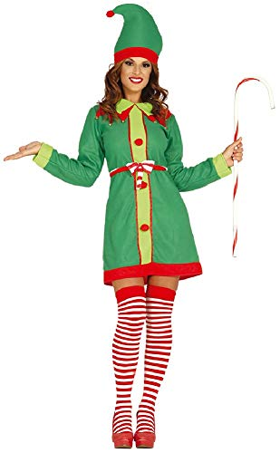 Ladies Cute North Pole Elf Santas Helper Christmas Xmas TV Film Movie Festive Fun Fancy Dress Costume Outfit (UK 16-18)