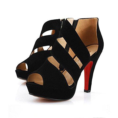 Beikoard -20% infradito scarpe con tacco alto da donna, scarpe con tacco a spillo, scarpe con tacco a punta(nero,37)