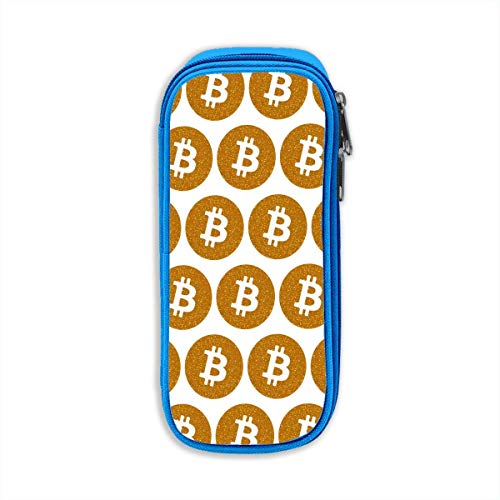Original Bitcoin Logo Symbol Cryptocurrency Pencil Pen Zipper Pouch Small Pencil Case Makeup Bags