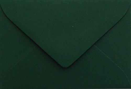 Briefumschläge24Plus 25 Briefumschläge Mini Tannen Grün 5,1 x 7,0 cm Verschluss-Technik: feuchtklebend, Grammatur 120 g/m²