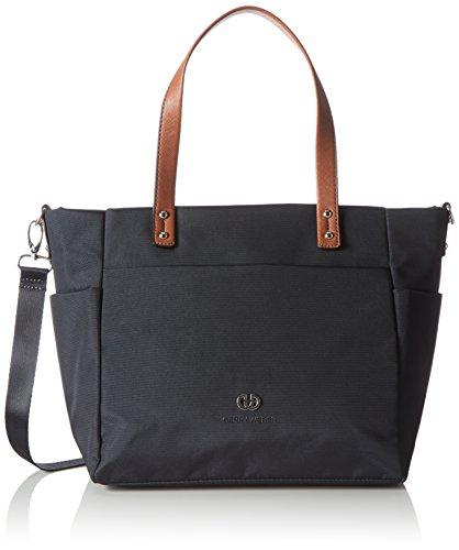 Designer Handtasche Nylon (Gerry Weber Damen Lemon Mix II Handbag M Henkeltaschen, Blau (402), 37x25x15 cm)