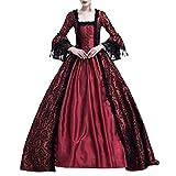 POachers Robe de soirée de Cocktai-Robe Médiévale Dentelle Déguisement Femme Renaissance Costume Robes Longues