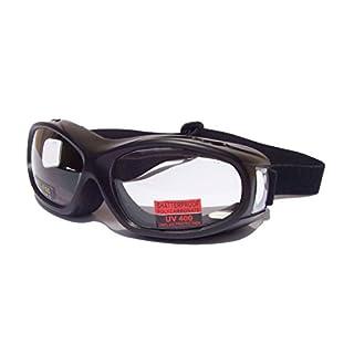 Flight OTG [Over The Glasses] Motorbike Biker Riding Goggles  Clear Lens