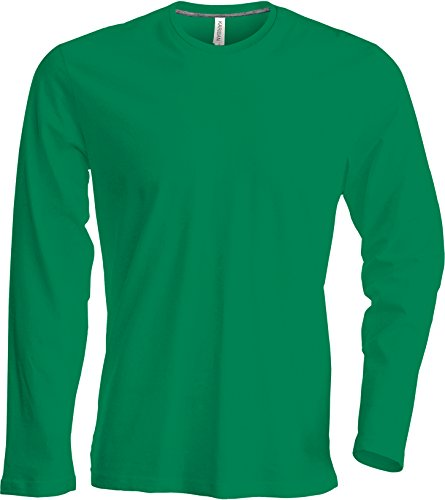 Herren T-Shirt langarm von notrash2003 (XXL, Grün) (Farbe Grün T-shirt)