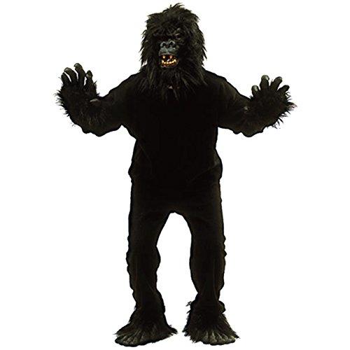Tierkostüm Gorilla Vollkostüm inkl. Kopf Größe 48-54 Kostüm Affe Affenkostüm