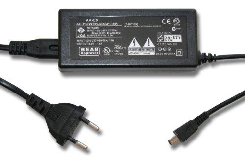 220 V Kamera Netzteil (8,4 V/1,5 A) passend für Samsung SC-, HMX-, SMX-Serie, z.B.SC-D60, SMX-F30, HMX-H105 u.a. Ersetzt Originalzubehör: AA-E9(A). (Hmx-serie)