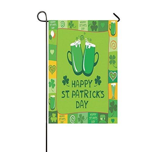 interestprint ST PATRICKS DAY Lange Polyester Garten Flagge Banner Fahne Deko 30,5x 45,7cm, grün Oktoberfest für Hochzeitstag/für Home Outdoor Garden Decor (St Patricks Day Fahne Garten)