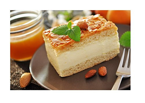 Nussknacker-kuchen-deckel (Hobbybäcker Bienenstich Mix ► Backmischung, Kuchen-Mix, Torte Backen, Hefeteig mit karamellisierten Mandeln & Sahne, 600g)