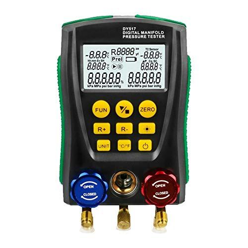 JUNERAIN DY517 Manometer Kältetechnik Digital Vakuum Manifold Tester