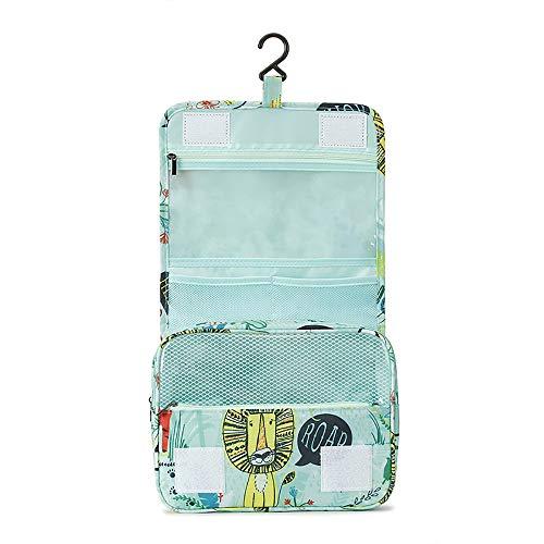 ALRY Kosmetische Reisetasche Multifunktions wasserdicht Anhänger WC große Kapazität waschen Aufbewahrungstasche,Green -
