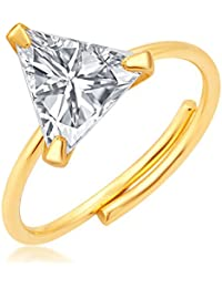 Archi Collection Solitaire American Diamond Ring For Girls And Women