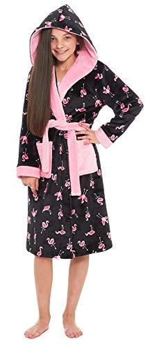 9c1d1d65 Slumber Hut® Flamingo Girls Fleece Dressing Luxury Velvet-Softness Hooded  Childrens Novelty Animal Print